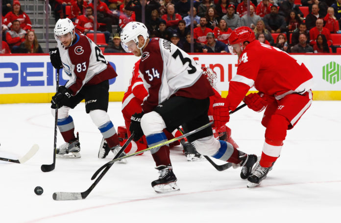 72d078fde04 Five takeaways from the Avs  2-0 shutout of the Red Wings
