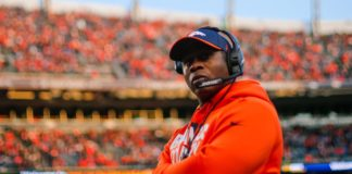 Vance Joseph in likely his final game as Broncos head coach. Credit: Isaiah J. Downing, USA TODAY Sports.