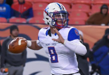 Cherry Creek High School quarterback Alex Padilla -- PHOTO CREDIT: JacksActionPhotos.com
