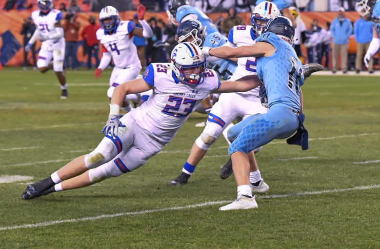 Cherry Creek High School linebacker Alec Pell -- PHOTO CREDIT: JacksActionPhotos.com