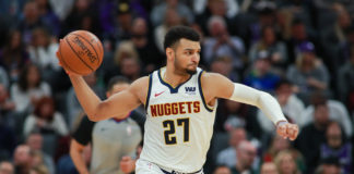 Denver Nuggets guard Jamal Murray (27) passes the ball during the second quarter against the Sacramento Kings at Golden 1 Center.