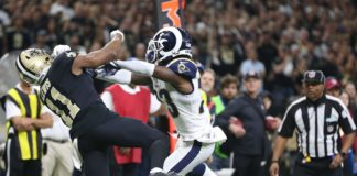 The non-call from the NFC Championship Game. Credit: TommyLee Lewis, USA TODAY Sports.