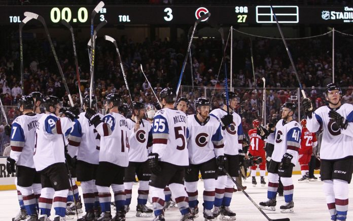 Avalanche in their last Stadium Series game in 2016. Credit: Isaiah J. Downing, USA TODAY Sports.