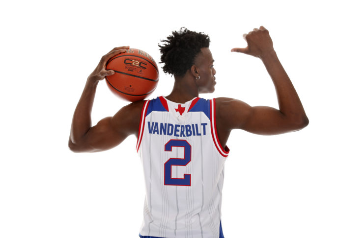 McDonalds High School All-American forward Jarred Vanderbilt (2) poses for a photo during the 2017 McDonalds All American Game Portrait Day at Chicago Marriott.