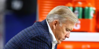 John Elway. Credit: Mark J. Rebilas, USA TODAY Sports.