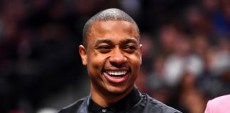 Denver Nuggets guard Isaiah Thomas (0) during the second half against the San Antonio Spurs at the Pepsi Center.