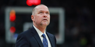 Denver Nuggets head coach Michael Malone during the game against the Sacramento Kings at Golden 1 Center.