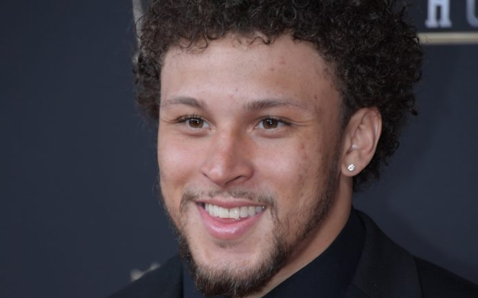 Phillip Lindsay at NFL Honors. Credit: Kirby Lee, USA TODAY Sports.