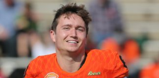 Drew Lock. Credit: Chuck Cook, USA TODAY Sports.