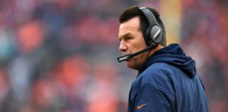 Gary Kubiak. Credit: Ron Chenoy, USA TODAY Sports.