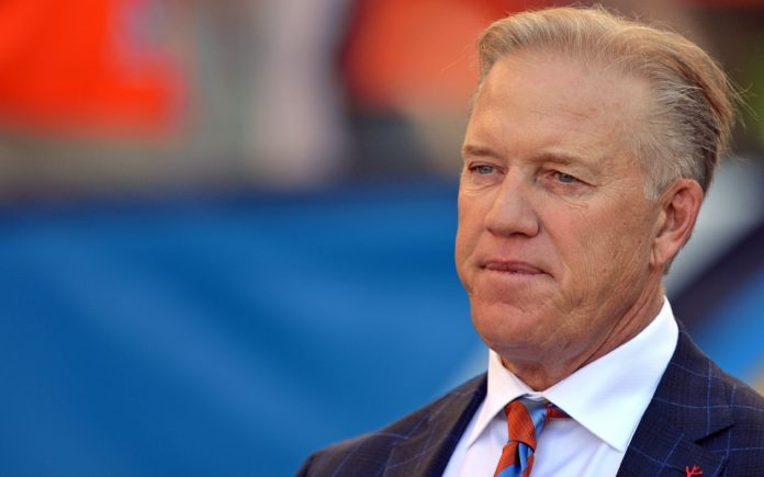 John Elway. Credit: Jake Roth, USA TODAY Sports.