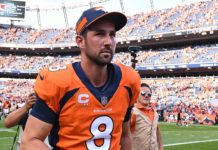 Brandon McManus. Credit; Ron Chenoy, USA TODAY Sports.