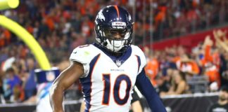 Emmanuel Sanders. Credit: Mark J. Rebilas, USA Today Sports.