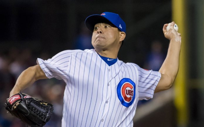 Jorge De La Rosa in 2018 with the Chicago Cubs. Credit: USA TODAY Sports.