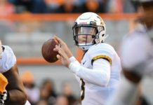 Drew Lock. Credit: Randy Sartin, USA TODAY Sports.