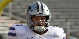 Dalton Risner. Credit: Michael C. Johnson, USA TODAY Sports.