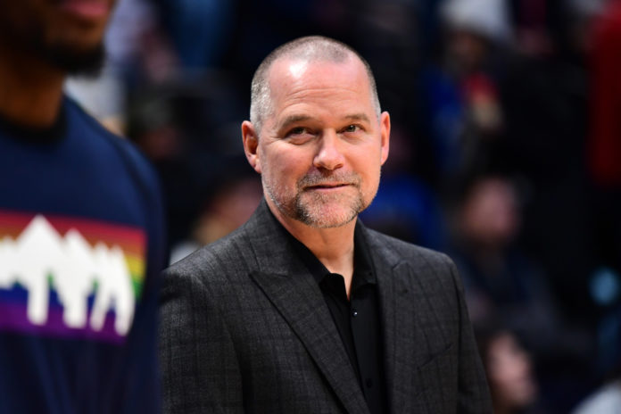 Denver Nuggets head coach Michael Malone before the game against the Minnesota Timberwolves at the Pepsi Center.