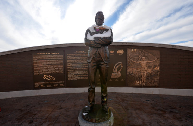 Statue of Denver Bronco owner Pat Bowlen at Sports Authority Field at Mile High