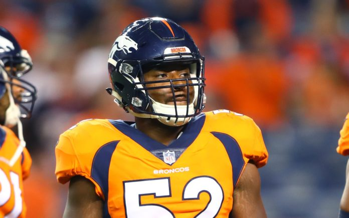 Corey Nelson with the Broncos in 2017. Credit: Mark J. Rebilas, USA TODAY Sports.