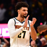 Denver Nuggets guard Jamal Murray (27) celebrates after defeating the Brooklyn Nets at the Pepsi Center.
