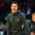 Denver Nuggets forward Michael Porter Jr. (1) before the game against the Miami Heat at the Pepsi Center.