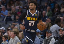 Denver Nuggets guard Jamal Murray (27) during the first half against the Memphis Grizzlies at FedExForum.