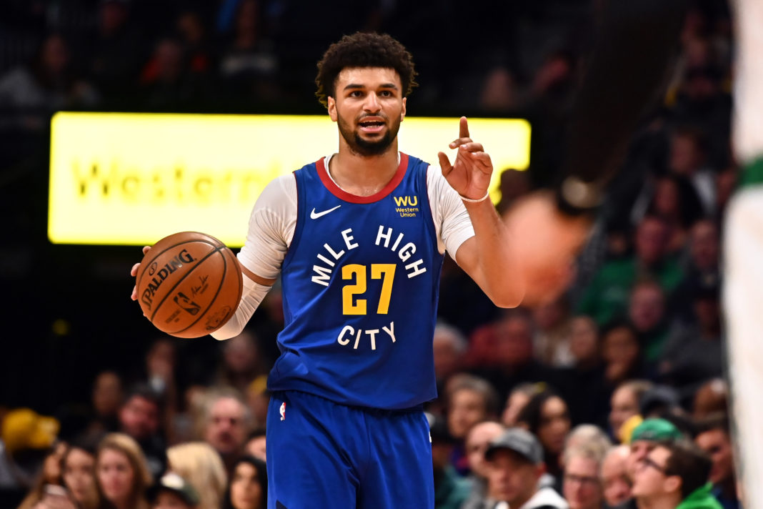 Denver Nuggets guard Jamal Murray (27) during the second half against the Boston Celtics at the Pepsi Center.