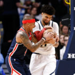 Denver Nuggets guard Jamal Murray (27) and Washington Wizards guard Isaiah Thomas (4) battle for the ball in the second quarter at the Pepsi Center.