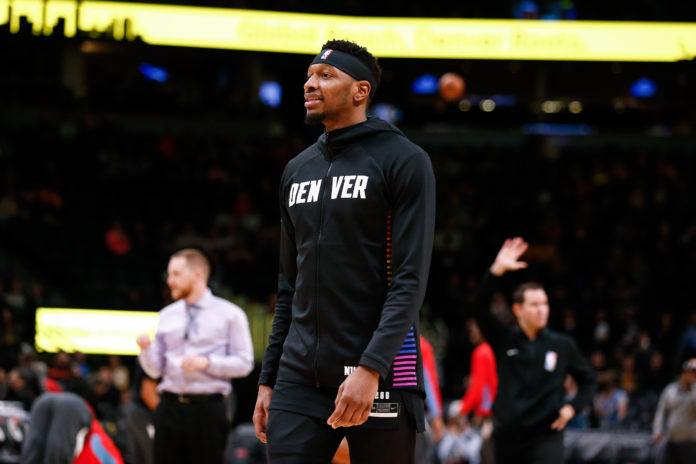 Denver Nuggets forward Torrey Craig (3) before the game against the Sacramento Kings at the Pepsi Center.