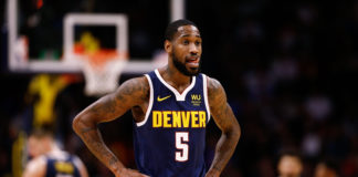 Denver Nuggets forward Will Barton III (5) in the third quarter against the Atlanta Hawks at the Pepsi Center.