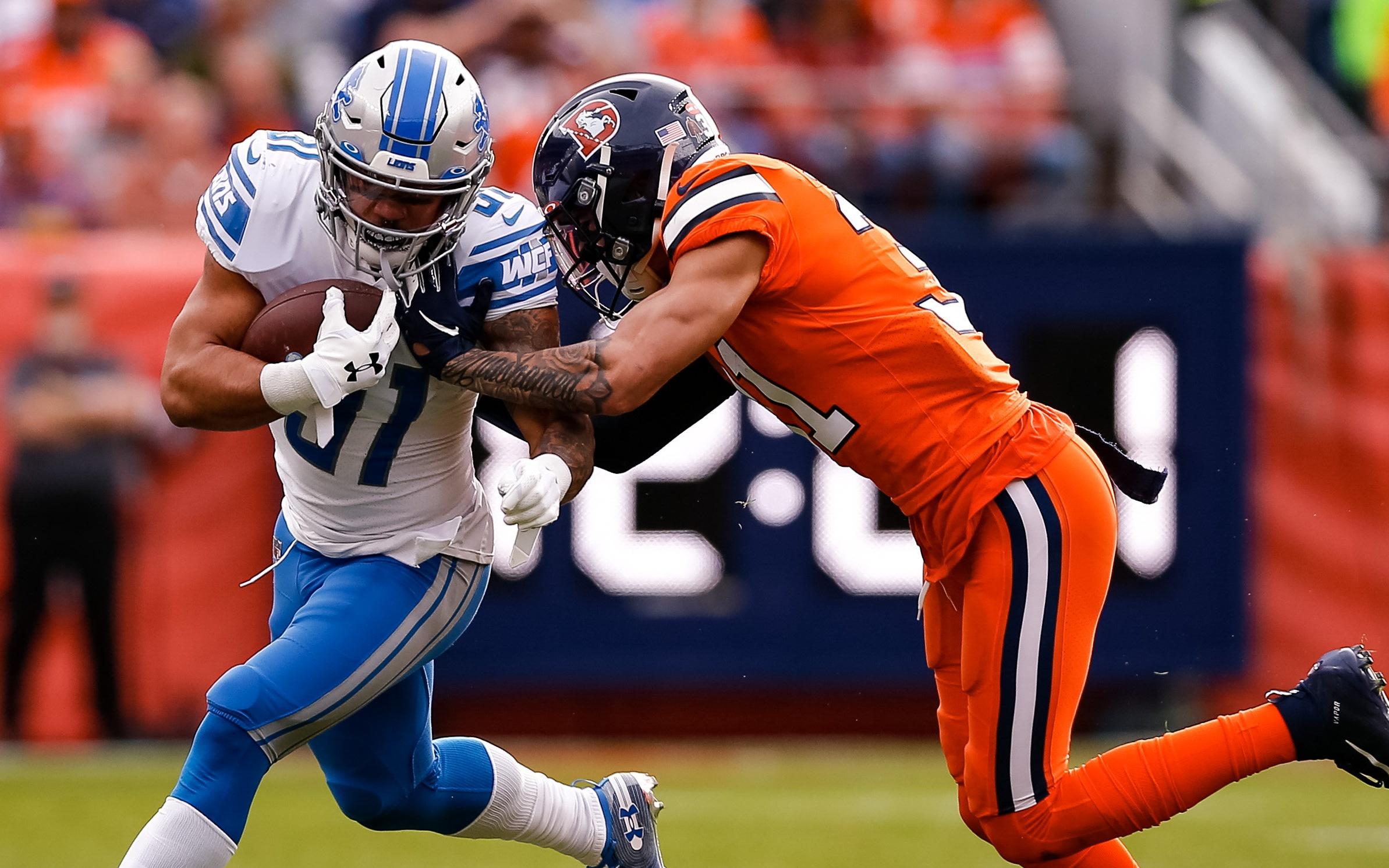 Justin Simmons makes a tackle. Credit: Isaiah J. Downing, USA TODAY Sports.