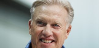 John Elway at the NFL Combine. Credit: Brian Spurlock, USA TODAY Sports.