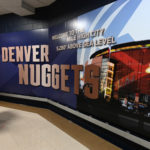 General view of elevation sign inside the Pepsi Center before game between the Milwaukee Bucks against the Denver Nuggets