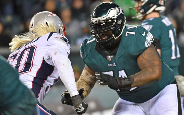 Jason Peters in Nov. 2019. Credit: Eric Hartline, USA TODAY Sports.