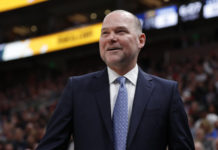 Denver Nuggets head coach Michael Malone reacts during the fourth quarter against the Utah Jazz at Vivint Smart Home Arena.