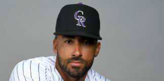 Ian Desmond in February. Credit: Jayne Kamn-Oncea, USA Today Sports.