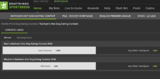 draftkings sportsbook nathans hot dog eating contest
