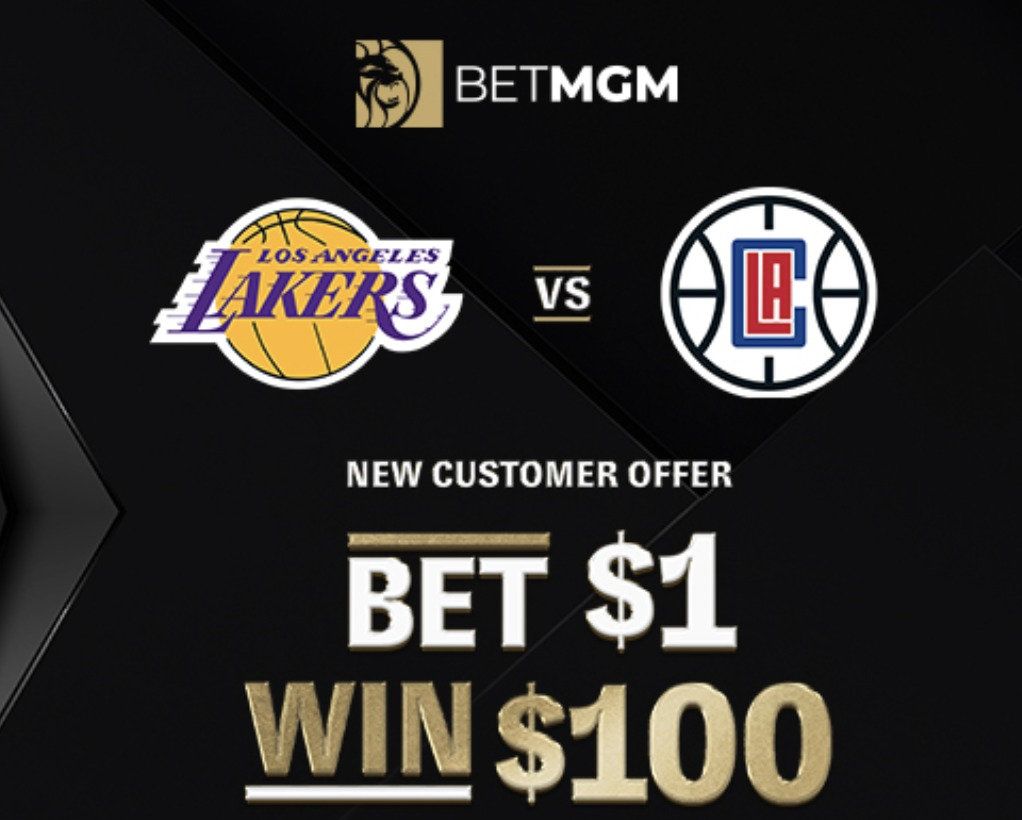 betmgm lakers clippers 100-1 odds