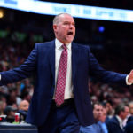 Denver Nuggets head coach Michael Malone reacts in the second half against the Milwaukee Bucks at the Pepsi Center
