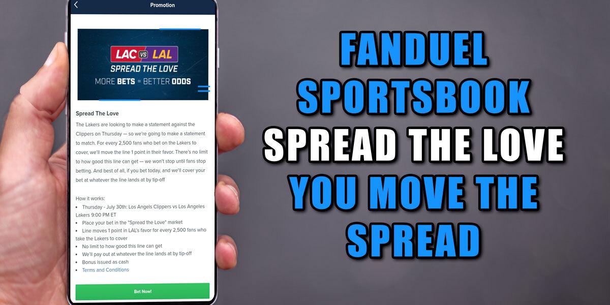 fanduel sportsbook spread the love nba promo