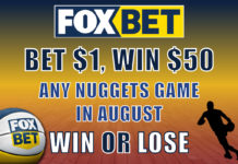 fox bet 50-1 odds nuggets offer