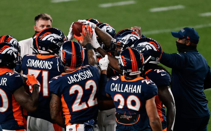 Bryce Callahan, Kareem Jackson and Justin Simmons are all in the mix for Broncos mid-season MVP. Credit: Isaiah J. Downing, USA TODAY Sports.