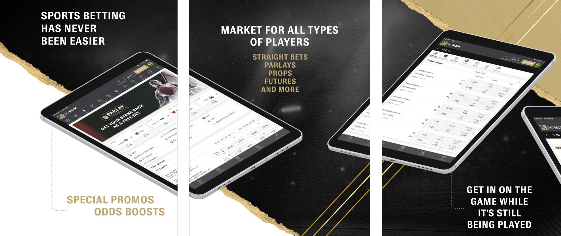 Mile High Sports, BetMGM Mobile App Screenshot