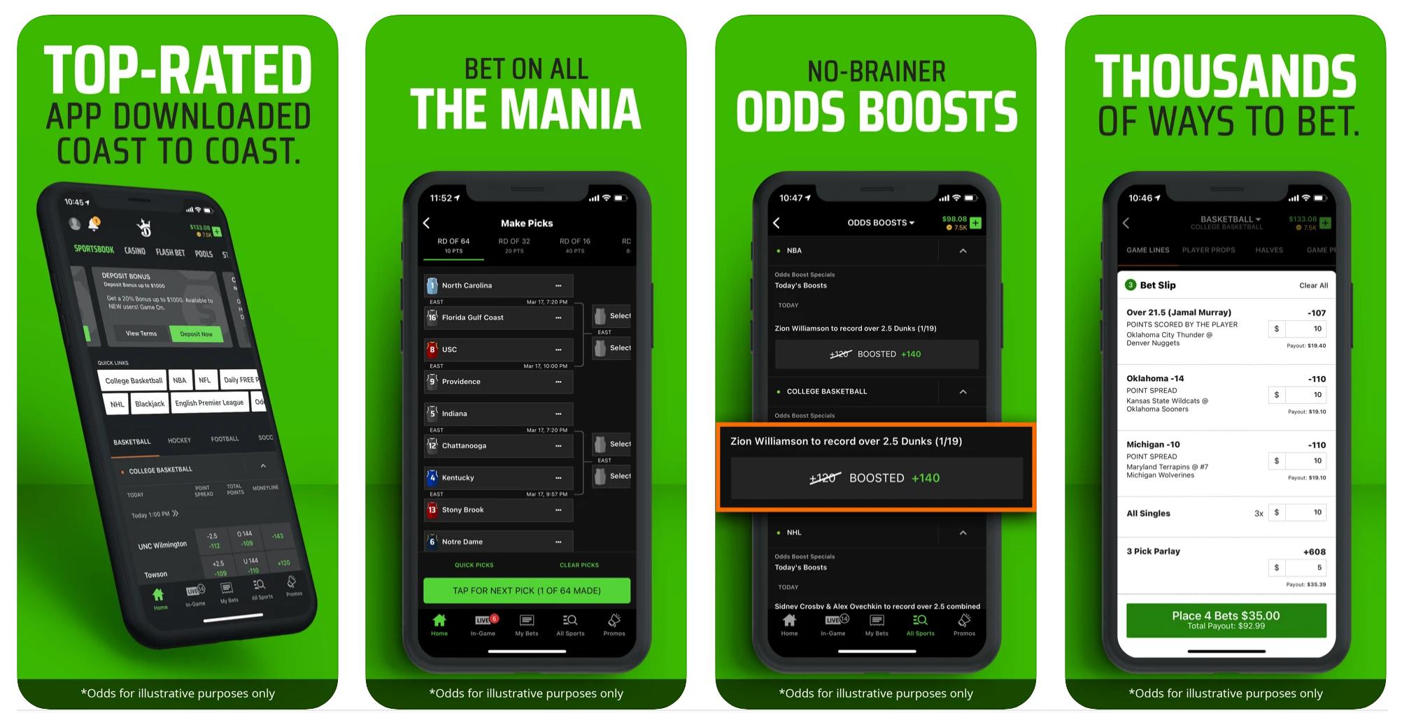 DraftKings Sportsbook Colorado Mobile App Screenshot