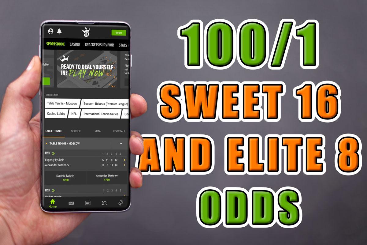 Draftkings Sportsbook bet $1 win $100