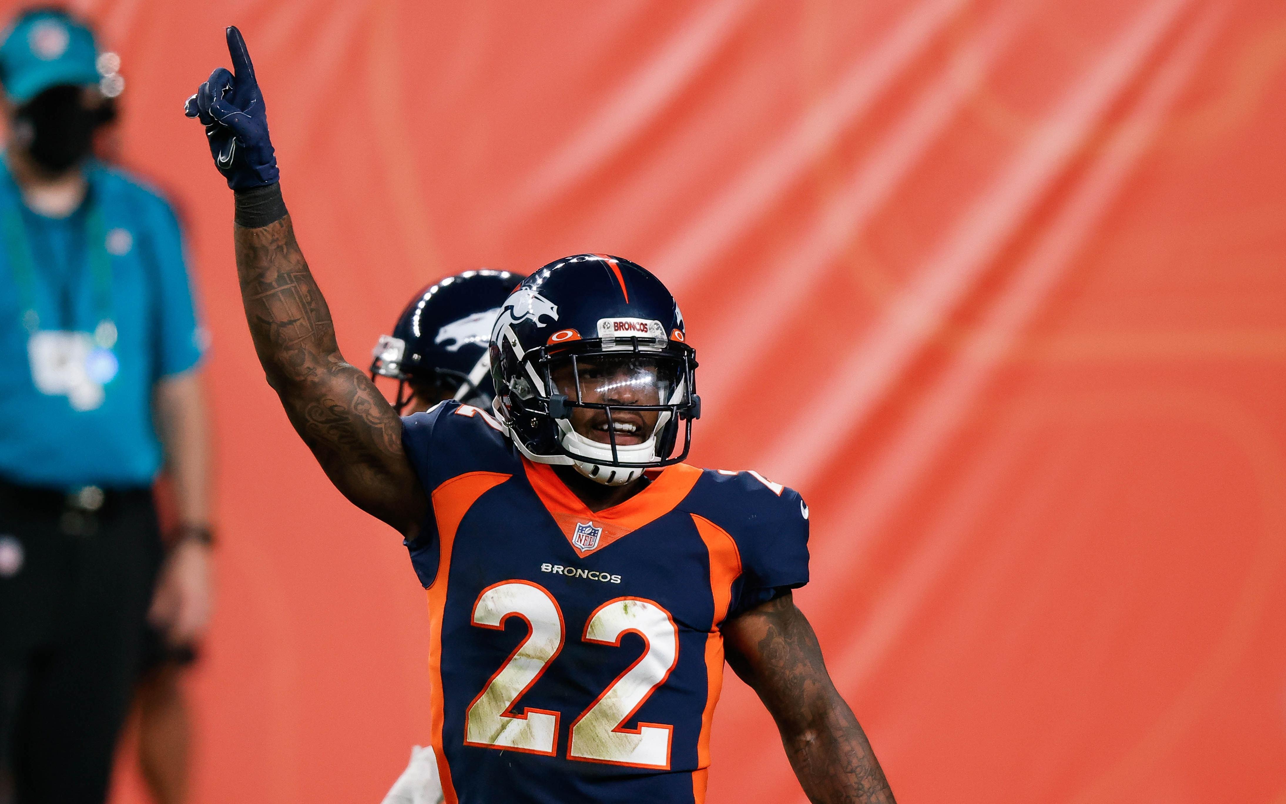 Kareem Jackson in 2020. Credit: Isiah J. Downing, USA TODAY Sports.