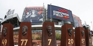 Empower Field at Mile High Stadium. Credit: Troy Babbitt, USA TODAY Sports.
