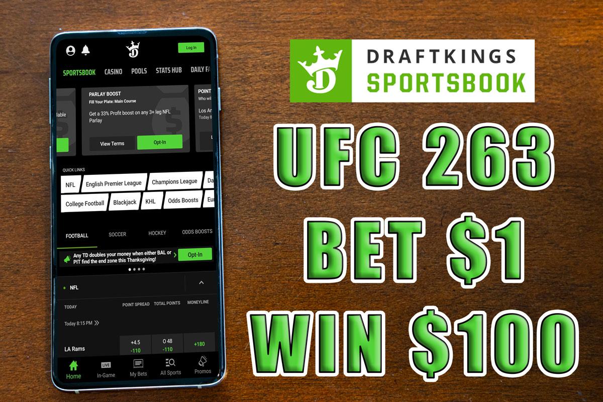 draftkings sportsbook ufc 100-1