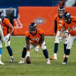 Denver Broncos center Lloyd Cushenberry III (79) in the fourth quarter against the Los Angeles Chargers at Empower Field at Mile High.