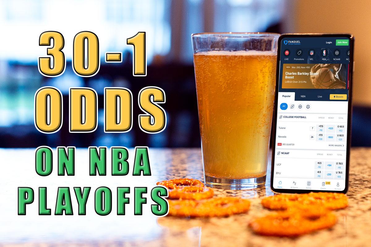 fanduel sportsbook nba 30-1 odds promo